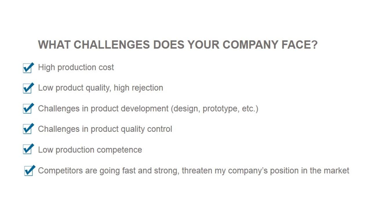 customer's challenges