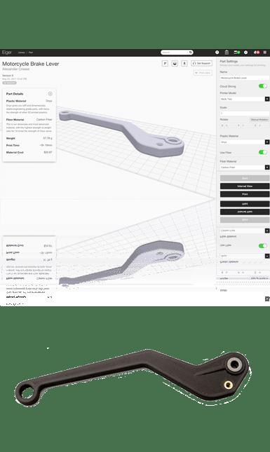 Mẫu in 3D của hãng Markforged - mô tả