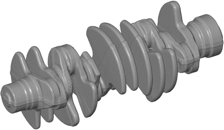 Complex scan of a crankshaft W12 – Demo GOM 2016