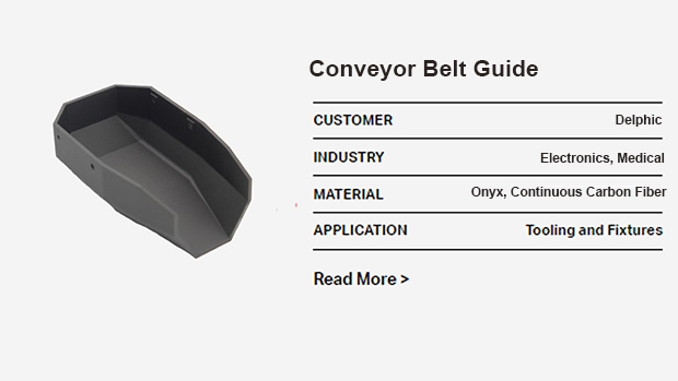 3D printed conveyor belt guide-markforged-ava