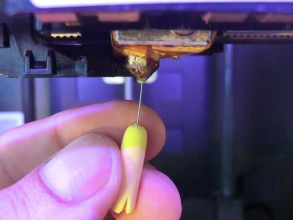 đầu in 3D không ra nhựa